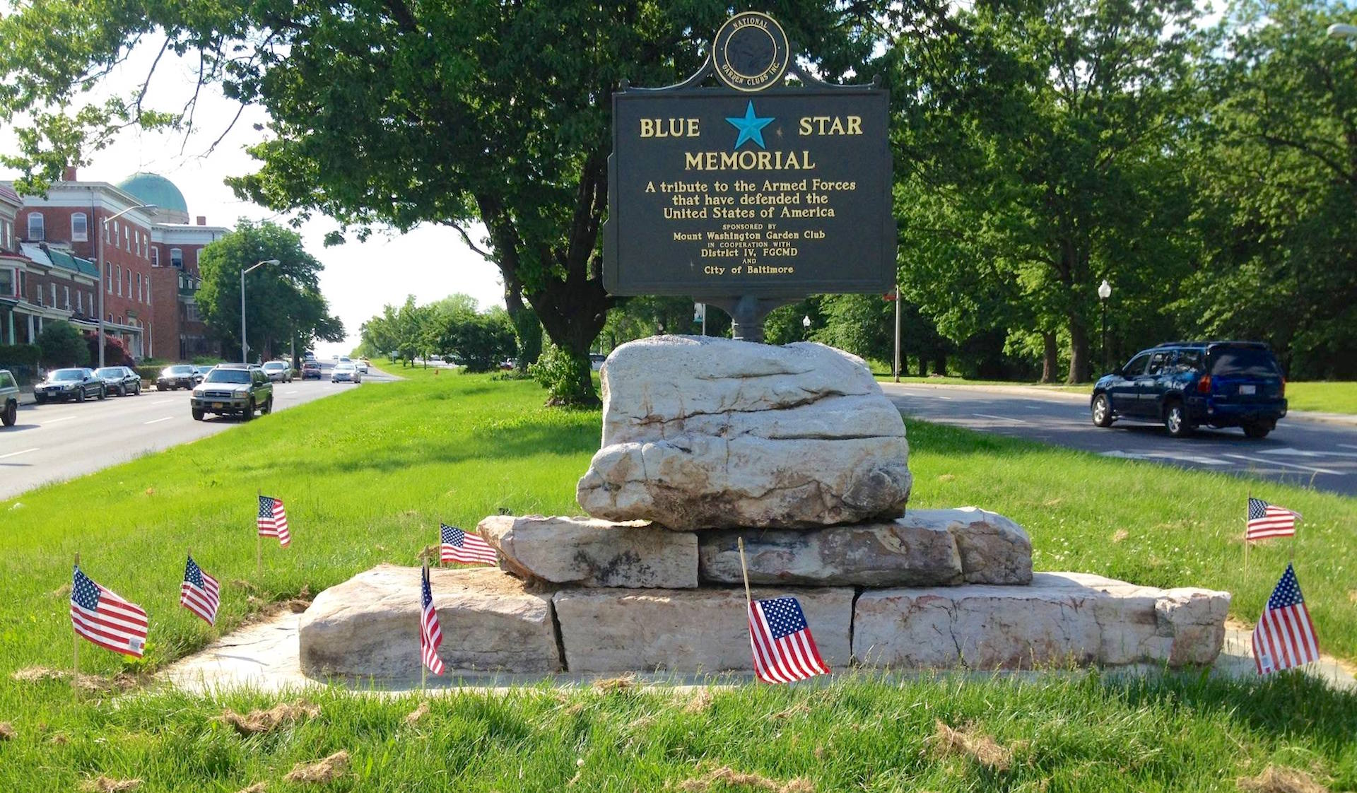 Auchentoroly Terrace - Blue Star Memorial Highway