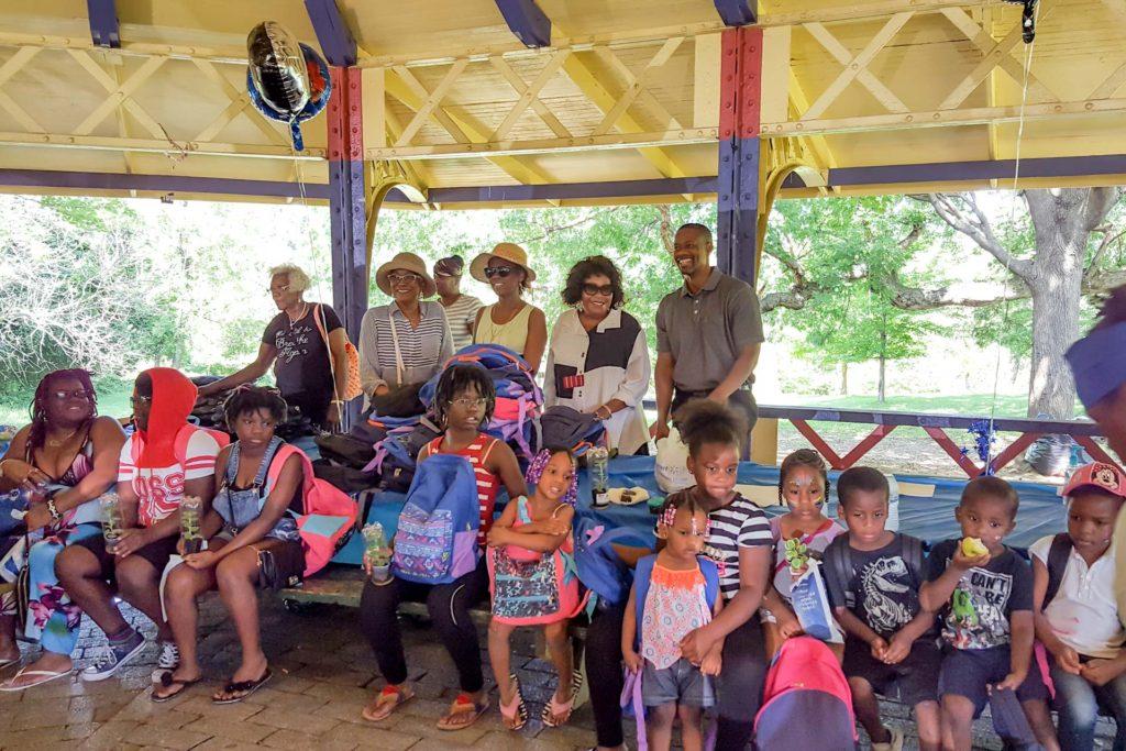 ATA BacktoSchool Bonanza group photo with kids