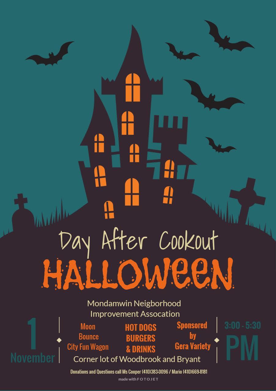 Halloween 1 November.Halloween Day After Cookout Auchentoroly Terrace