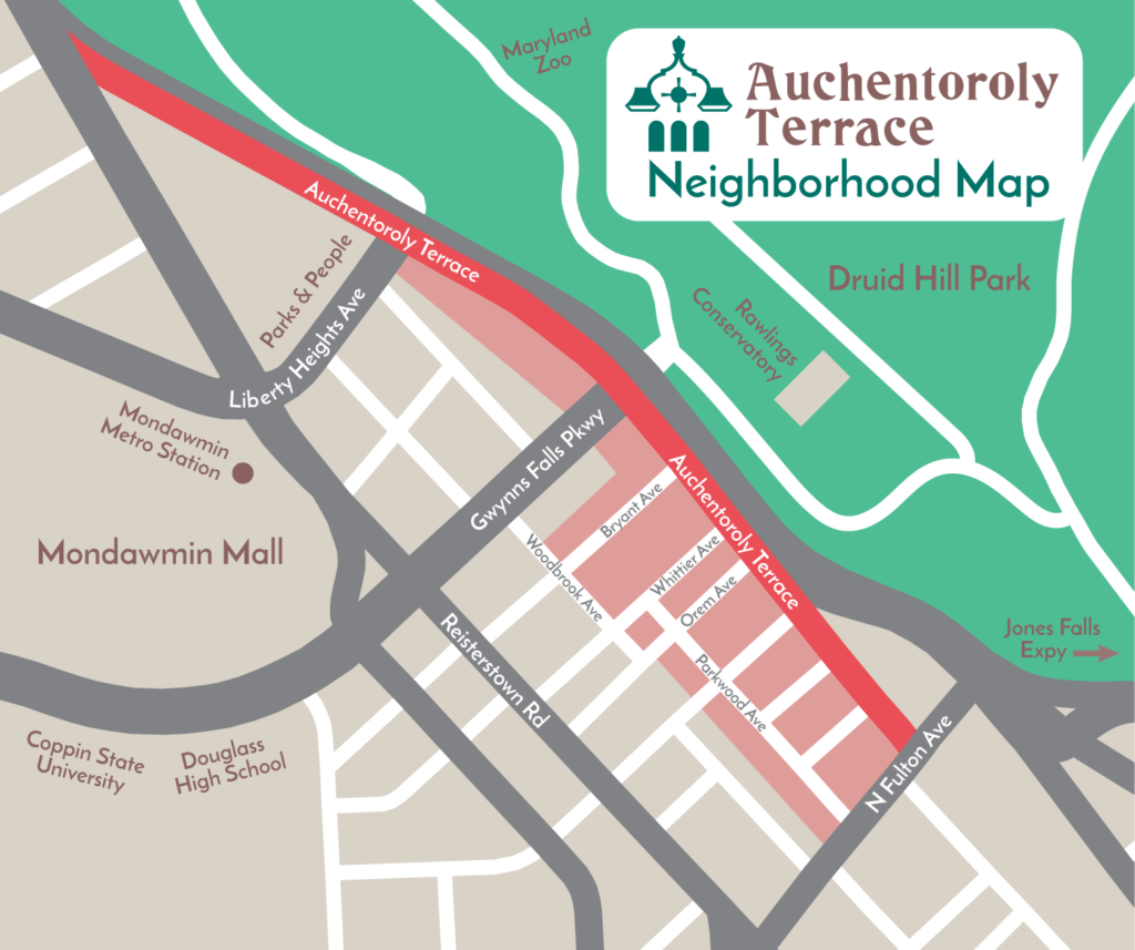 Auchentoroly Terrace Map