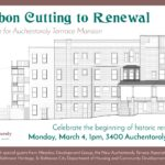 3400 Auchentoroly Terrace ribbon cutting banner