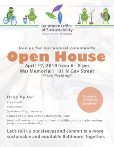 Baltimore Office of Sustainbility Open House 190417