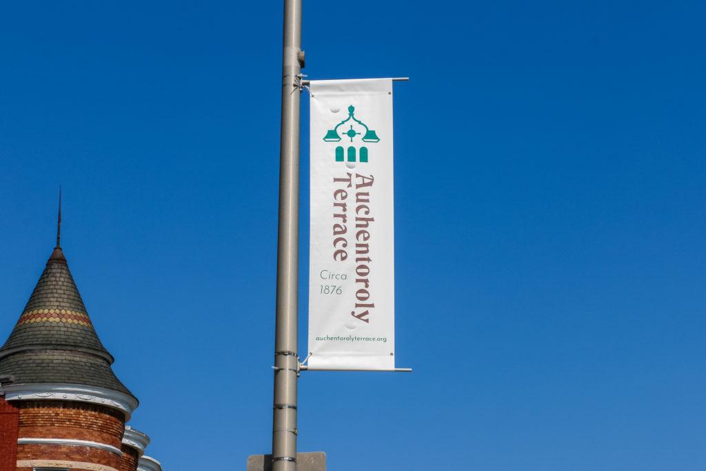 Auchentoroly Terrace Banner