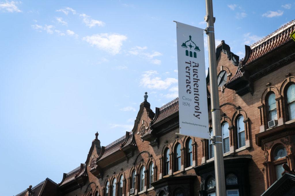 Auchentoroly Terrace Banners 3300 block detail