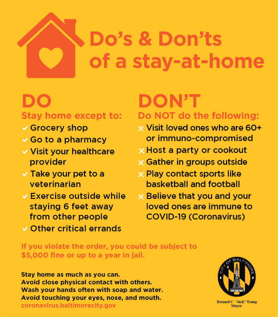 COVID 19 Stay at Home Do's and Don'ts