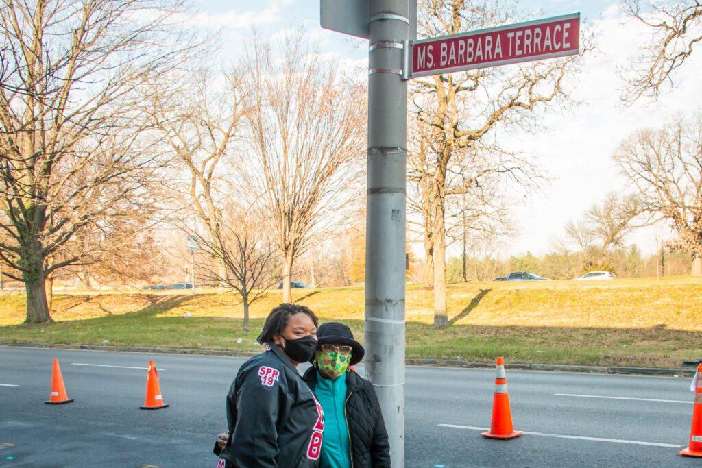 Ms. Barbara and Delta Sigma Theta sister