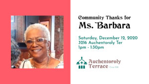 ATA Community Thanks for Ms Barbara 12.12.20 fb banner