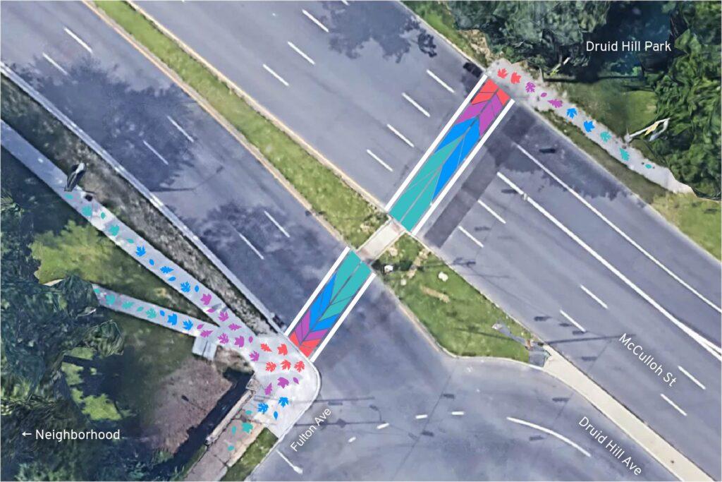 Druid Hill Canopy Crosswalk plan
